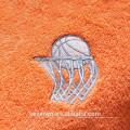 Bonne absorbant doux textile broderie basket-ball sport serviette ST-005