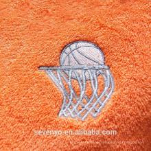 gutes saugfähiges weiches Textilstickereibasketball-Sporthandtuch ST-005