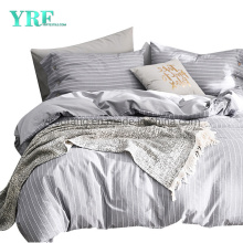 New Product Simple Style University Dorm 3 PCS Single Bed Cotton Fabric Stripe Bed Sheets