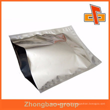 PET/ALU/PE small silver heat sealing mylar bags with QS certification