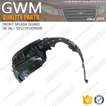Guarda de respingo de peças de automóvel OE Great Wall 5512101XS56XB