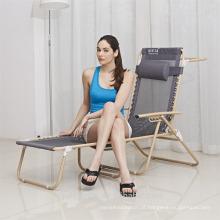 Dobrável Praia Chaise Lounge Chair Dobrável Cadeira De Praia Com Apoio Para Os Pés