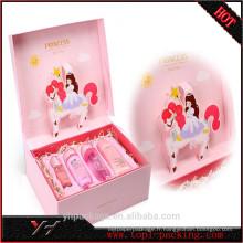 Boîte en carton de papier de cosmétique de princesse de haute qualité adaptée aux besoins du client