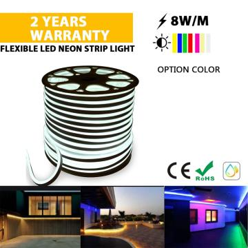 Brillo LED Tira de luz de cuerda flexible CW