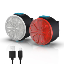 12 modos de brilho mini conjunto de luzes de bicicleta