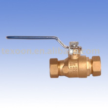 chromium plated copper brass ball valves with drain lead free Ningbo