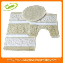 Tapis de bain en acrylique 3pcs avec article Latex Back Household