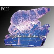 K9 cristal mano esculpida oso