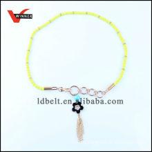 Light green skinny accessory waist belt