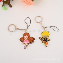 vente en gros de charme de téléphone PVC / anime mobile téléphone pendentif