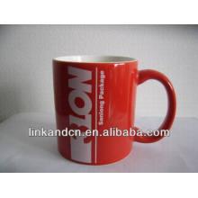 Haonai 11oz red advertising ceramic mug with your logo