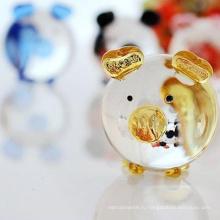 миниатюрный выдувного летающая свинья Рождества стекло орнамент