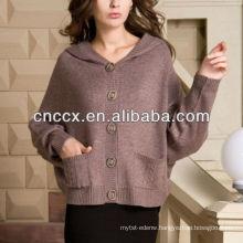 13STC5544 ladies sweater cardigan hooded cashmere cardigan