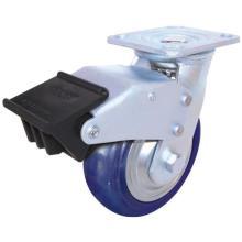 Nylon endireitado giratório com travão duplo (azul)