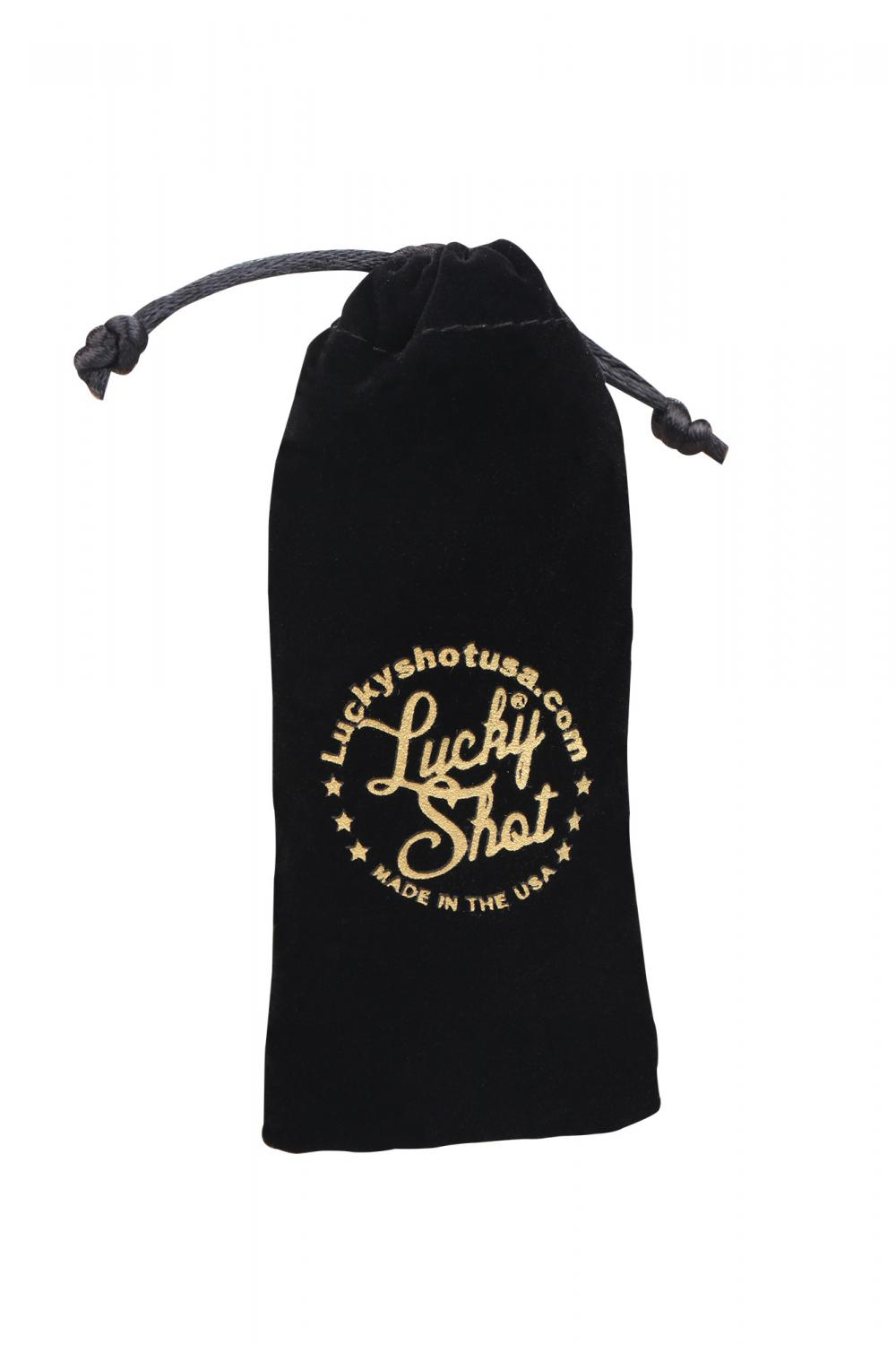 Black Velvet pouch with Gold Printing