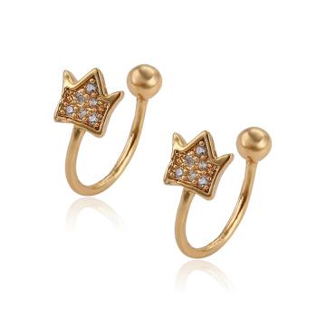 95795 XP atacado moda jóias de ouro brincos de clipe de design simples para meninas