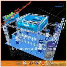 Stand d'exposition mobile carré standard fabriqué à Shanghai
