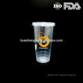 Высококачественные пищевые прозрачные пластиковые одноразовые стаканчики смузи 20 унций / 600 мл с крышками для оптовой