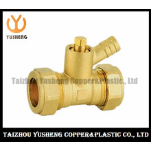 Brass Copper Pipe Fittings with Two Nuts (YS3114)