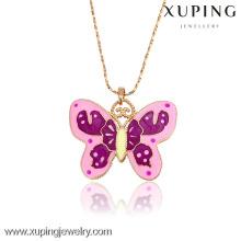 31940-Xuping charmante petite amie cadeaux pendentif en forme de papillon collier