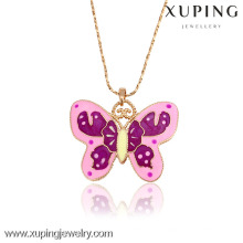 31940-Xuping Charming Girlfriend Gifts Butterfly Shape Pendant Necklace