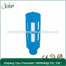silenciador de plástico neumático silenciador de escape de aire de plástico silenciador