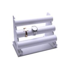 Organizador blanco del reloj de la PU MDF de 3 filas (WS-3W-L3)