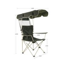 Venda quente de móveis ao ar livre dobrável cadeira portátil com dossel confortável cadeira de metal pcinic
