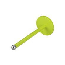 Sostenedor de papel verde y sostenedor de taza