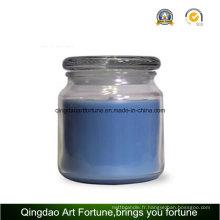 Bougie parfumée en verre avec couvercle en verre plat Fabricant