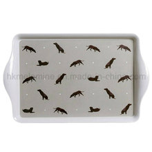 15inch Rectangle Melamine Serving Tray with Handle (TR1130)