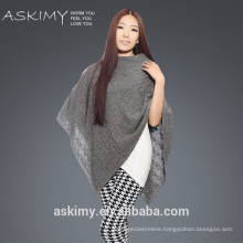 100% cashmere Hand Knitted Poncho Women Pure Mongolia Cashmere Poncho