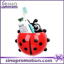 Porte-brosse à dents à ventouse en plastique mignon simple avec ventouse