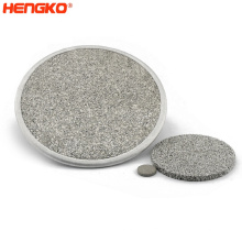 High Filtration Efficiency Factory Direct Sintered Stainless Steel Porous Plate Filter 316 316l Stainless Steel Ring Filter