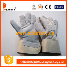 Guantes de seguridad de guante de soldadura de guantes de cuero de vaca divididos-Dlc219