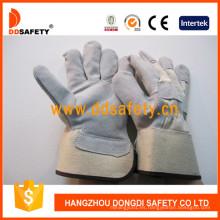 Guantes de seguridad de guante de soldadura de cuero dividido de vaca Dlc219