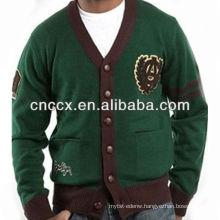 13STC5474 V-neck men custom cardigan sweater
