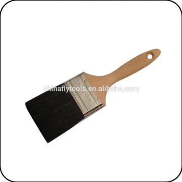 manche en bois pinceau noir en poils