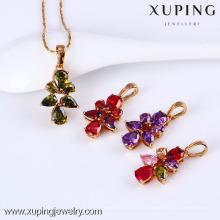 31379-Xuping горячий продавать Алмаз Кулон ювелирные изделия Латунь ожерелье