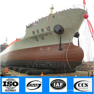 Airbags de borracha marinhos de alta qualidade do fabricante para o lançamento do navio