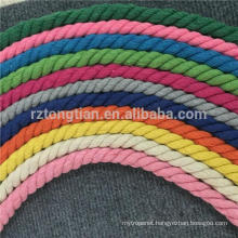 3 Strand twisted cotton rope for wholesale