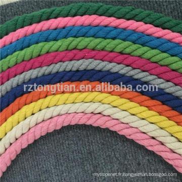 Corde de coton torsadée 3 brins pour la vente en gros