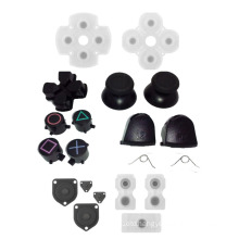 Thumbsticks Thumb Grip Cap D-pad +Direction key Bullet Buttons Silicon Conductive Pads For Sony PS4 Controller