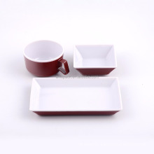 Hot sale heat resistant custom logo ABS plastic airline tableware