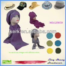 Scarf wool hijab scarf hats and scarf designer scarf and hat set knitted hat magic scarf knitted scarf wholesale scarves ,LSW59