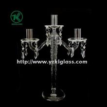 Bougeoirs en verre pour la décoration de fête avec trois messages (10 * 24 * 32.5)