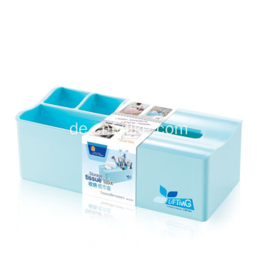 PS Material Tissue Box Desk Storage Organizer