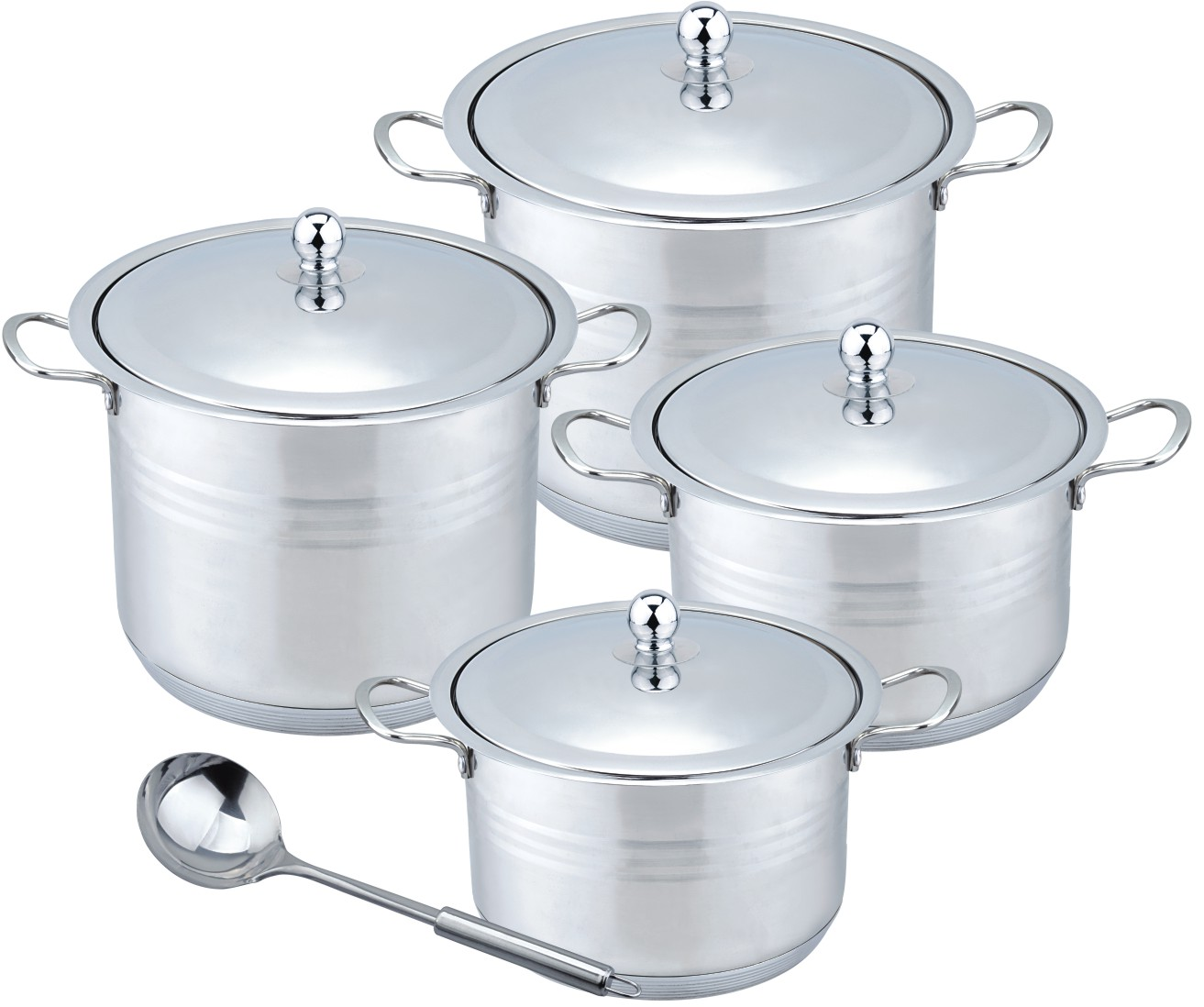 Hot sale 9pcs metal stock pot