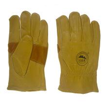 Verstärkung Palm Leder Sicherheit Arbeiter arbeiten Fahrhandschuhe