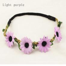 Elastic Flower Floral Hair Band Garland (HEAD-347)